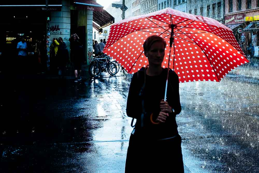 Street Photography rain Berlin