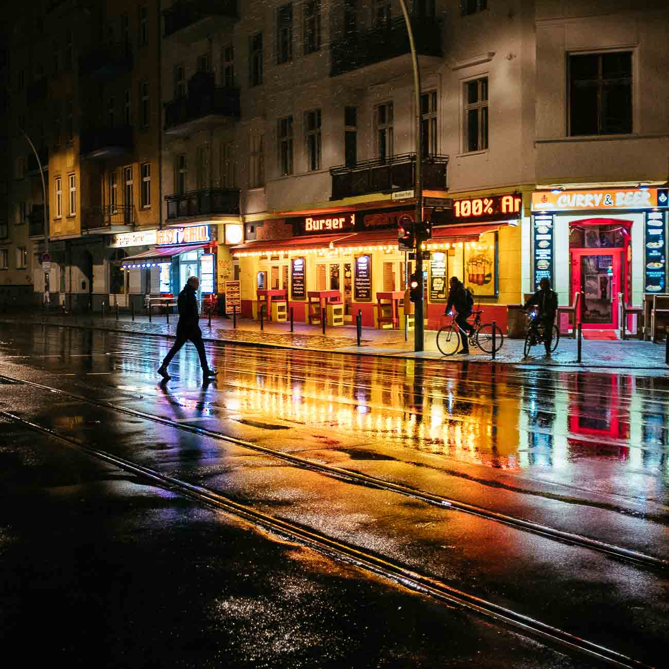 Street Photography Rain in Berlin by Martin U Waltz
